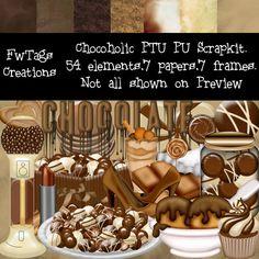 FwTags Creations: Chocoholic digi scrap kit now retired was PTU now a FREEBIE