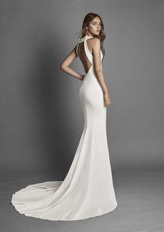 5fac156963 Vestido de novia modelo rasgo de alma novia colección 2017 2018 Alma Novia