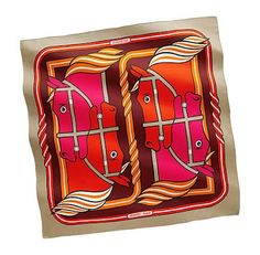 Fun and whimsical Hermes scarf from Quadrige collection