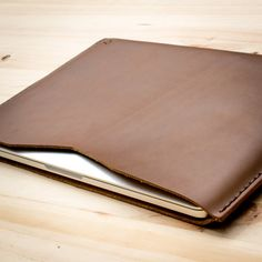 Items similar to Brown Leather MacBook Case, 12 13 15 16 Inch MacBook Air Retina Touch Bar Sleeve, Travel Apple Laptop Cover Folio.