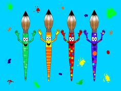 Whimsical artist paintbrushes.