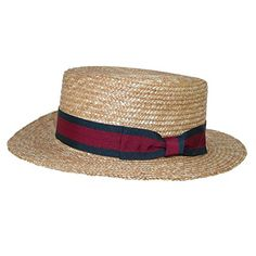 6e50df70f53f5 Buy CTM Straw 2.5 Inch Brim Boater Hat Navy Band online