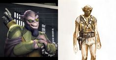 The original Chewie design was revisited with the new character in the Rebels.