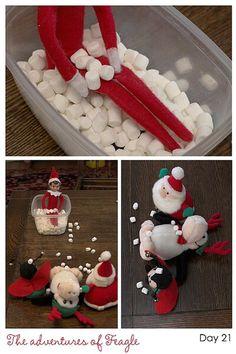 Elf on the shelf ideas :)