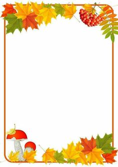Page Borders Design, Border Design, Diy And Crafts, Crafts For Kids, Paper Crafts, Stationary Printable, New Years Decorations, Autumn Crafts, Borders And Frames