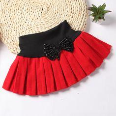 Aliexpress.com: Comprar niñas faldas niño falda tutú moda pettskirt patchwork sólido arco plisado de ropa de los niños de los bebés niños faldas casuales de falda de moda fiable proveedores en Love baby clothing