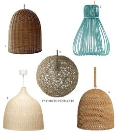 Woven pendant lights | McGrath II Blog