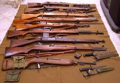 WWII guns - love shooting my husband's, especially as my Daddy is a WWII vet!!