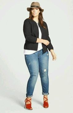Buying skinny jeans for plus size women has never been easier ...