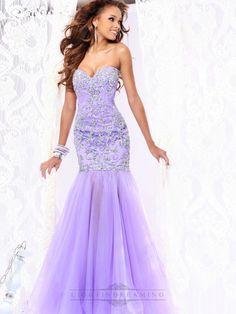 Strapless Sweetheart Embellished Bodice Mermaid Long Prom Dresses - LightIndreaming.com