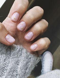 ideas for cute playful fingernails – Decor Cute Nails, Pretty Nails, My Nails, Pink Nails, Star Nails, Hair Skin Nails, Nail Envy, Manicure And Pedicure, Nail Inspo
