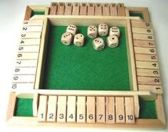 Shut The Box Game Wooden Upto Four Players by Elysium Enterprises