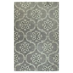 Wool+rug+with+a+floral+trellis+motif.+Hand-tufted+in+India.  +  Product:+RugConstruction+Material:+100%+Virgin+wool+pi...
