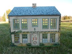 1940s Antique Vintage Playsteel Tin Litho Dollhouse