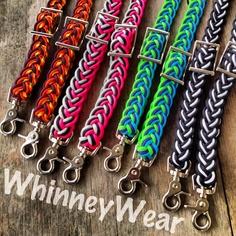 Braided barrel reins   www.whinneywear.com