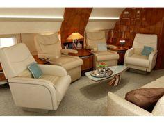 Aviones privados con interiores extraordinarios
