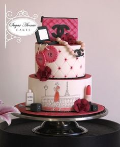 Turning 18 with style!!!! - Made for a pretty young lady for her 18th birthday party.