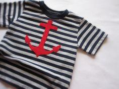 red anchor nautical toddler tshirt