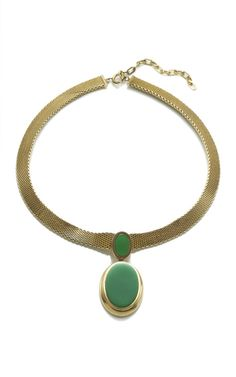HOL Christian Dior Green Pendant Necklace