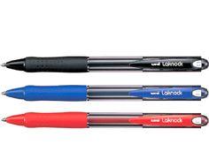 BOLIGRAFO LAKNOCK SN100. Bolígrafo con punta de acero inoxidable fina, de 0,7 mm. Cuerpo de plástico y empuñadura de cucho antifatiga. Azul, Rojo o Negro.