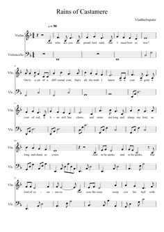 Sheet music made by Surrealist for 2 parts: Violin, Violoncello Violin Songs, Violin Sheet Music, Music Sheets, Music Lessons, Cello, Orchestra, Scores, Guitars, Bass