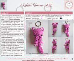 Crochet Amigurumi Free Patterns, Crochet Doll Pattern, Crochet Art, Crochet Animals, Crochet Toys, Free Crochet, Knitting Patterns, Crochet Keychain, Crochet Earrings