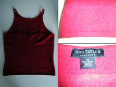 """Ann Taylor Cashmere red sweater knit, high boatneck, spaghetti straps, Size: XS $18.00 - Find it by going to www.LoyalRoyaltyPro.com, click on the """"Miss Anthropy's Boutique"""" link on the left sidebar and click on one of the hyperlinks that say """"Miss Anthropy's Boutique"""" to be taken to all of my eBay auctions including the one below! Don't forget to check out the other content on www.LoyalRoyaltyPro.com as well!"""