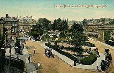 Harrogate England 1908 Crescent Gardens Victoria Baths Antique Vintage Postcard
