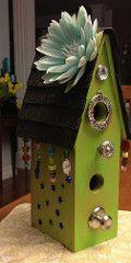Hippy birdhouse (LouiseLePierres) Tags: fun interesting birdhouse funky homemade quirky birdhouses