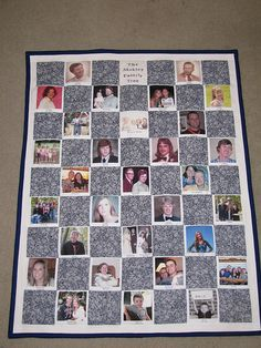 Browse the amazing collection of DIY Photo Quilt Patterns, Designs, Ideas and learn how to make handmade quilts with photos in some steps! Family Tree Quilt, Family Tree Photo, Family Photos, Quilting Projects, Quilting Designs, Sewing Projects, Quilting Ideas, Sewing Crafts, Diy Projects