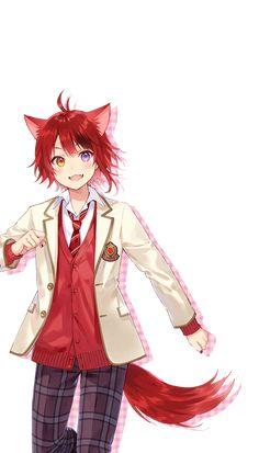 Anime Cat Boy, Neko Boy, Cute Anime Chibi, Moe Anime, Hot Anime Boy, Anime Wolf, Anime Art, Cool Anime Guys, Jungkook Fanart