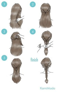 Here is a quick and easy style you can create just by using ponytails! Not all o frisuren haare hair hair long hair short Cute Simple Hairstyles, Braided Hairstyles, Cool Hairstyles, Hairstyle Ideas, Medium Hairstyle, Updos Hairstyle, Wedding Hairstyles, Belle Hairstyle, Braided Updo