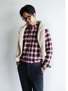 Button-Down Check Shirt, $38.00 #plaid #geeky #urbanstyle