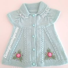 Baby Cardigan Knitting Pattern, Baby Knitting Patterns, Crochet For Kids, Knit Crochet, Angel Gowns, Kids Wear, Free Pattern, Baby Kids, Summer Dresses