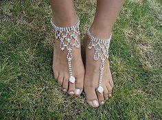 Shining Crystal Barefoot Sandals Anklet Foot Beach Wedding Bridal Bridesmaid   eBay