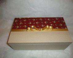 Porta jóias em mdf Vinho Floral