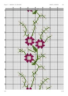 Cross Stitch Boarders, Cross Stitch Letters, Bordados E Cia, Graph Paper, Bargello, Loom Patterns, Diy And Crafts, Tapestry, Embroidery