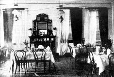 The dining room of the Broken Hill Hotel, Victoria Park, Perth, Western Australia 1898. Photo: Weekly Times September 10 1898. More pubs: www.timegents.com Hotel Victoria, Australian National University, Old Newspaper, September 10, Western Australia, Perth, Hotels, Dining Room, Times