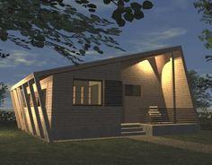 Casa Ecologica MICRO STANDARD - Construcții de case din lemn și case imprimate 3D Solar, Garage Doors, Sweet Home, Outdoor Decor, House, Home Decor, Houses, Decoration Home, House Beautiful