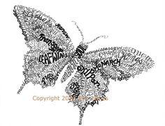 Butterfly Word Art Calligram