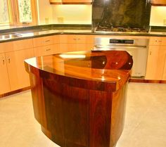 another gorgeous wood kitchen island