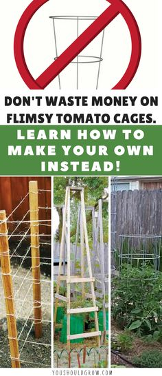 Growing Tomatoes: Tomato cages are necessary to support your plants. But some store bought cages are just awful! Find out how to make your own that will last for years! Gardening For Beginners | Vegetable Gardening | Grow Your Own