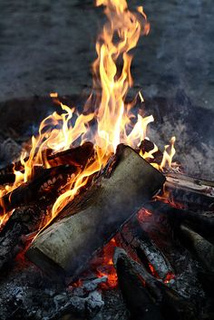 *Nothing compares with a wood fire...ummm..the aroma, the crackle, the sizzle…