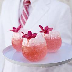 Orange-Pomegranate Champagne Shots