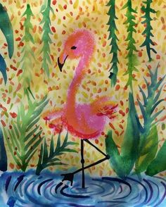 Mini Matisse: Art to Remember - Flamingo Flamingo Painting, Flamingo Art, Matisse Kunst, Matisse Art, Henri Matisse, 3rd Grade Art Lesson, Animal Art Projects, Ecole Art, Spring Art