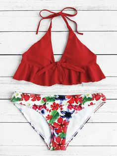 To find out about the Calico Print Ruffle Hem Mix & Match Bikini Set at SHEIN, part of our latest Bikini Sets ready to shop online today! Summer Bathing Suits, Cute Bathing Suits, Summer Suits, Cute Swimsuits, Cute Bikinis, Summer Bikinis, Bikini Sexy, Bikini Swimwear, Style Surfer