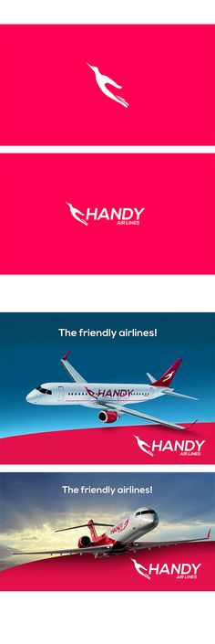 HANDY Airlines  - Brand Identity - by Vendo Kolev , via Behance