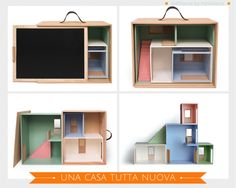 portable dollhouse by Haseweiss via designperbambini.it                                                                                                                                                                                 More