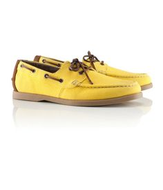 H and M bright yellow boat shoes under $30.  A great way to welcome in spring.
