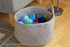 Yarn basket crocheted in traphilo-yarn
